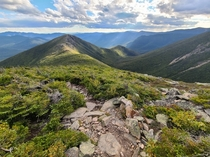 The view looking down the wind-swept Bondcliff ridge from Mt Bond is pretty spectacular Bondcliff is one of the  peaks above k ft elevation in the White Mountains of New Hampshire and is one of the hardest but most rewarding to reach