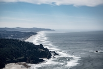 The view of Lincoln City from the Cascade Head Trail Oregon