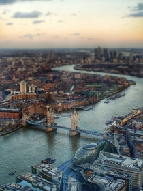 The view of London from the Shard