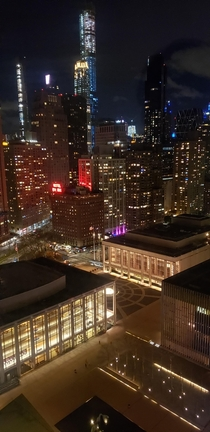 The view of New York City from my best friends dorm at Julliard Music School
