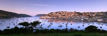 The view of Salcombe from Snapes Point England