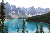 The View Over Moraine Lake AB Canada