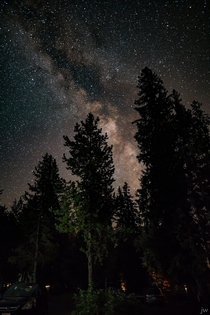 The view over our campsite on Diamond Lake about  minutes from everyones favorite karma-whoring location Crater Lake It is spectacularly dark here making Milky Way viewing and shooting very rewarding