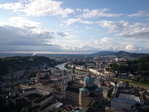 The view over Salzburg from the fortress