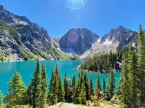 The view was definitely worth the hike Colchuck Lake WA