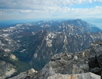 The view was worth the pain Cascade Canyon as viewed from the summit of the Grand Teton x