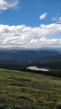 The view while driving up Mount Evans Colorado