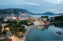 The village of Assos on the Greek island of Kefalonia
