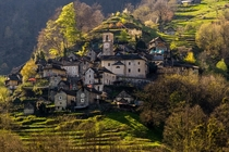 The village of Corippo in the Verzasca Valley of Switzerland