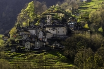 The village of Corippo in the Verzasca valley of Switzerland has been here since the s  people live here today