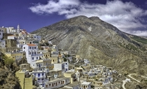 The village of Olympos on the Greek island of Karpathos