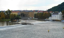 The Vltava River as seen from the Charles Bridge in Prague