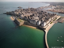 The walled city of Saint-Malo in Brittany the center of French Piracy