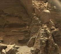 The walls of the Murray Buttes on Mount Sharp Mars