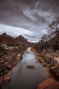 The Watchman and the Virgin River of Zion National Park