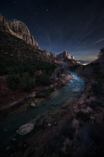 The Watchman Trail in Zion National Park Utah  by Moe Chen