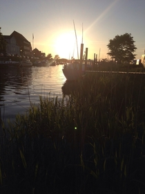 The water in Ribe Denmark