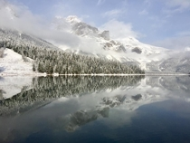The water was like glass - Emerald Lake in the winter