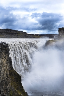 The waterfall Dettifoss in northern Iceland