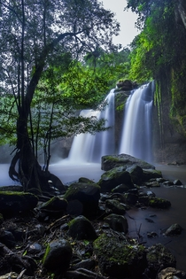 The waterfall from the movie The Beach Khao Yai National Park Thailand Davidsun