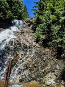 The waterfall I found and then climbed up today on a hike its near Grouse Mountain North Vancouver BC