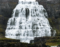The waterfall of Dynjandi in Icelands Westfjords Its really big
