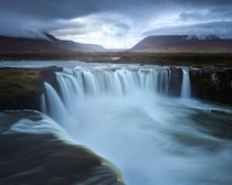 The Waterfall of Gods Godafoss Iceland