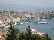 The waterfront in Split Croatia
