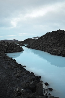 The waters near Grindavk and the Bla Lni Blue Lagoon Iceland Taken -Feb-