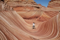 The Wave near the Utah-Arizona border in the slopes of Coyote Buttes