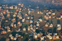 The wealthy outskirts of Kathmandu Nepal at dawn  OC