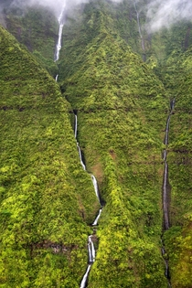 The Weeping Wall of Mount Waialeale Kauai