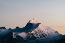 The Weisshorn at Dawn Switzerland