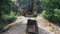 The well preserved Neosho Mine outside of Ouray Colorado