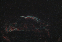 The Western Veil Nebula and Pickerings Triangle using an Optolong L-eXtreme dual narrowband filter