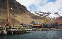 The whaling station on South Georgia British Overseas Territories where Ernest Shackleton sought salvation for his men after enduring a  mile open boat voyage