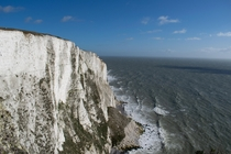 The White Cliffs of Dover on a sunny morning