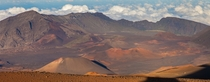 The white dot bottom right is a hiker Haleakal NP Hawaii