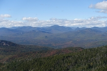 The White Mountains from Mt Chocorua NH