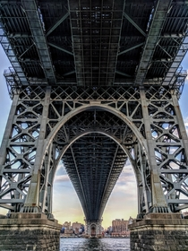 The Williamsburgh Bridge looking west from Brooklyn