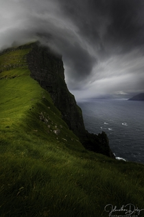 The wind the drama - Kalsoy Island Faroe Islands