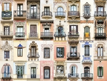 The Windows amp Balconies of Barcelona Photography and collage by Andr Vicente Gonalves