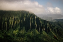 The windward ranges of Oahu Hawaii