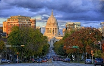 The Wisconsin State Capitol in Madison Wisconsin