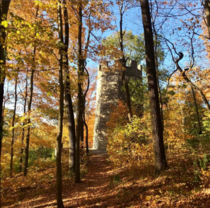 The Witchs Tower near Dayton Ohio in autumn Rumor has it a teenager died there years back and its been abandoned ever since