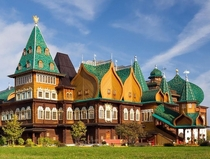 The Wooden Palace of Tsar Alexei Mikhailovich - Moscow Russia - Originally built by Tsar Alexis Mikhailovich  - Considered An Eighth Wonder of the World - Demolished by Catherine the Great after decay  - Reconstructed  from original plans - Open to the Pu