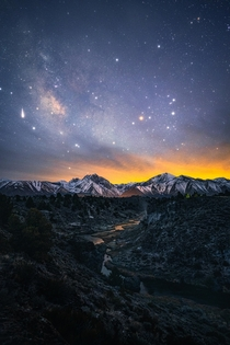 The world at night Eastern Sierras Ca