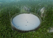 The worlds biggest radio telescope in China thats the equivalent of  football pitches