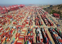 The worlds largest container port