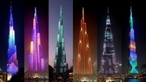 The worlds tallest building and tallest free-standing structure  m- Burj Khalifa It is designed to resemble the Hymenocallis flower This took more than  tons of concrete  tons of steel rebar and  million man-hours over  years